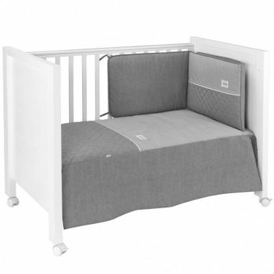 set couvre lit et tour de lit narrow 70 x 140 cm par cambrass. Black Bedroom Furniture Sets. Home Design Ideas