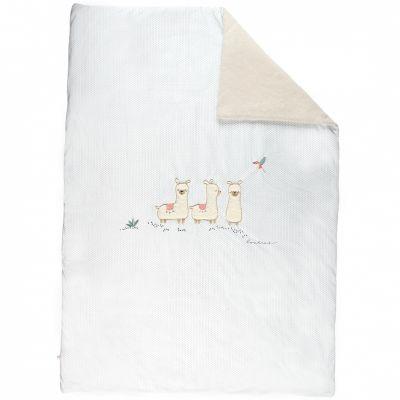 Couverture en veloudoux lama Sacha (100 x 140 cm)  par Noukie's