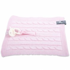 Attache sucette Cable Uni rose