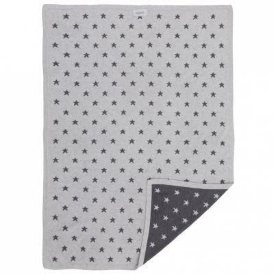 Couverture jacquard Poudre d'étoiles gris foncé et clair (75 x 100 cm)  par Noukie's