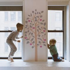 Sticker mural Small Apple Tree liberty (140 cm)
