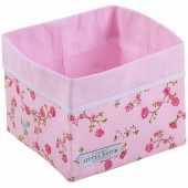 Panier de toilette Pink blossom (15 x 15 cm) - Little Dutch