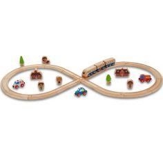 Set de train en bois - circuit forme 8