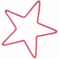 Déco murale étoile moyenne en tricotin (coloris personnalisable)