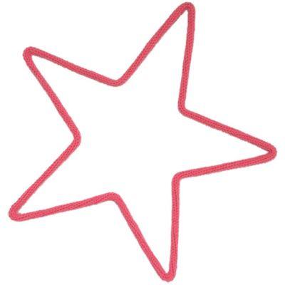 Déco murale étoile moyenne en tricotin (coloris personnalisable)  par Charlie & June