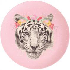 Grande assiette en bambou tigre Floral Tiger (25 cm)