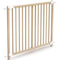 Barrière de sécurité extensible en bois de hêtre verni Essentiel