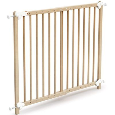 Barrière de sécurité extensible en bois de hêtre verni Essentiel  par AT4