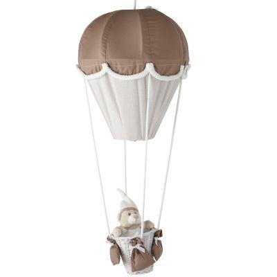 Lampe montgolfière taupe et écru Domiva