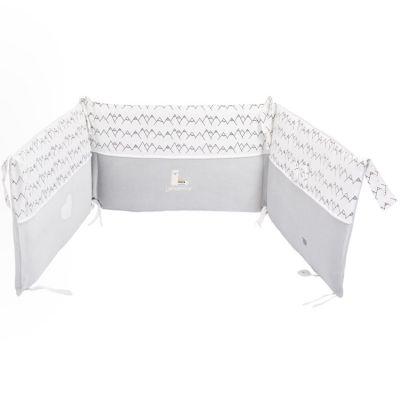 Tour de lit gris Lamamour (pour lits 60 x 120 ou 70 x 140 cm)  par Nougatine