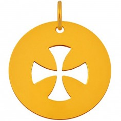 Médaille Signes Croix égale bélière 16 mm (or jaune 750°)