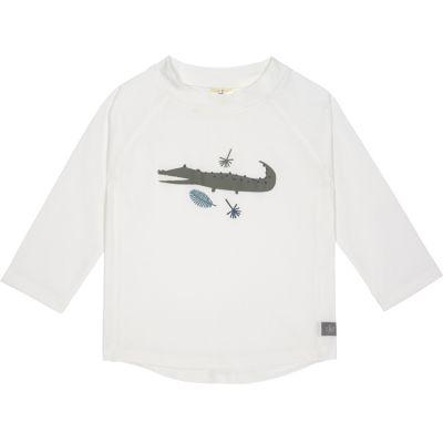 Tee-shirt anti-UV manches longues Crocodile blanc (24 mois)