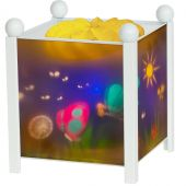 Lanterne magique ''Papillons'' blanche - Trousselier