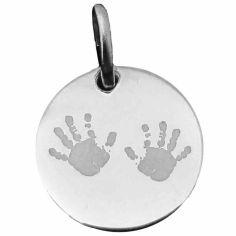 Médaille de naissance Deux mains (argent rhodié 925°)