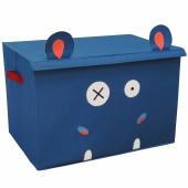 Coffre à jouet caisse de rangement Hippipos l'Hippopotame - Les Déglingos
