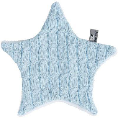Doudou plat étoile Cable Uni bleu ciel (30 cm) Baby's Only