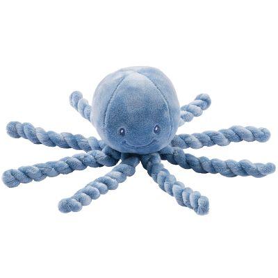Peluche pieuvre Lapidou bleu (23 cm)  par Nattou