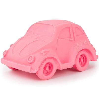 Grande voiture Coccinelle latex d'hévéa rose  par Oli & Carol