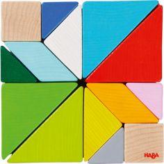 Jeu d'assemblage en 3D Cube Tangram (21 pièces)