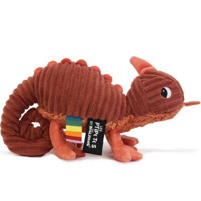 Peluche Les Ptipotos Météou le caméléon (30 cm)  par Les Déglingos