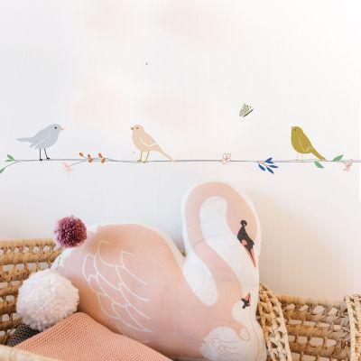 Frise adhésive Fleurs et Oiseaux (5 mètres)  par Mimi'lou