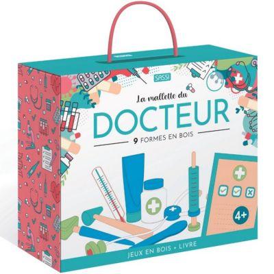 Mallette livre + jouets en bois Le docteur  par Sassi Junior