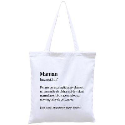 Sac à anses en coton bio Maman  par Hindbag