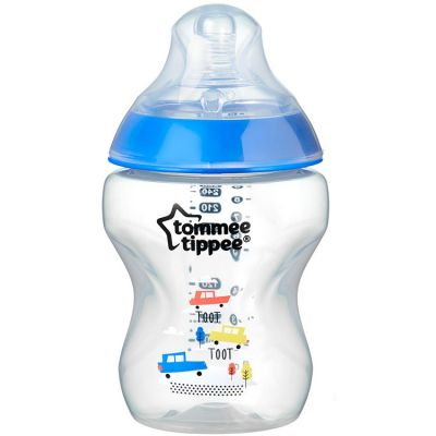Biberon Closer to nature décoré bleu (260 ml)  par Tommee Tippee