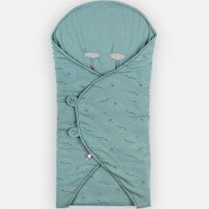 Couverture nomade en jersey bio Mix & Match bleu
