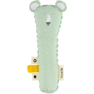 Hochet pouët ours Mr. Polar Bear (16 cm)  par Trixie