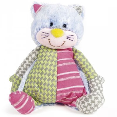 Peluche chat Patchwork (25 cm) Walking Mum