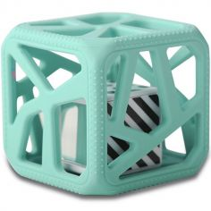 Hochet cube de dentition vert mint