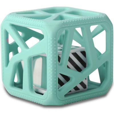 Hochet cube de dentition vert mint  par Malarkey Kids