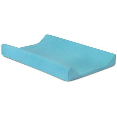 Housse de matelas à langer bleu turquoise (50 x 70 cm)