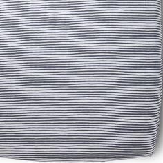 Drap Housse Stripes Away Ink rayure bleues (60 x 120 cm)