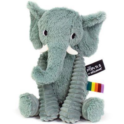 Peluche Les Ptipotos Dimoitou l'éléphant vert (26 cm)  par Les Déglingos