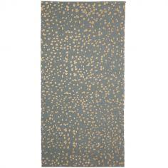 Tapis vert à pois dorés Dottie (70 x 140 cm)