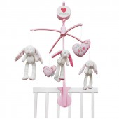 Mobile musical lapin Pink Blossom - Little Dutch