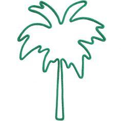 Déco murale palmier en tricotin (coloris personnalisable)
