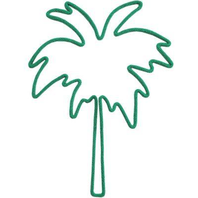 Déco murale palmier en tricotin (coloris personnalisable)  par Charlie & June