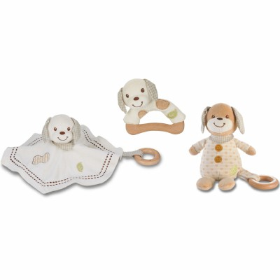 Lot de 3 peluches organiques à caresser EverEarth
