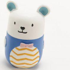 Boîte à dents ours Simon bleue