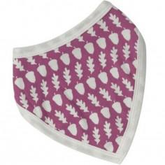 Bavoir bandana à pression réversible Acorn rose framboise