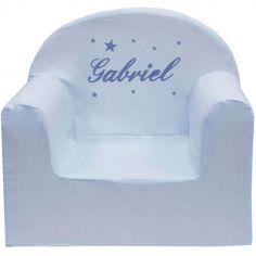Fauteuil club bleu (personnalisable)