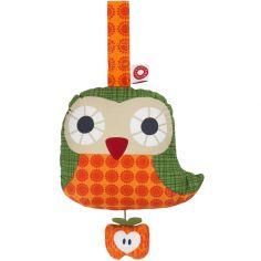 Jouet musical à suspendre en coton bio Astrid orange (15 cm)