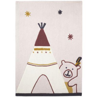 Tapis rectangulaire Tipi Timouki (130 x 90 cm)  par Sauthon