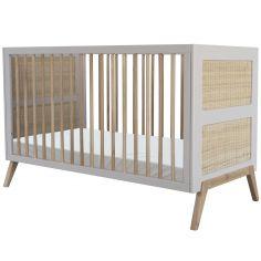 Pack duo lit bébé évolutif et côtés de lit Marelia gris lune (70 x 140 cm)