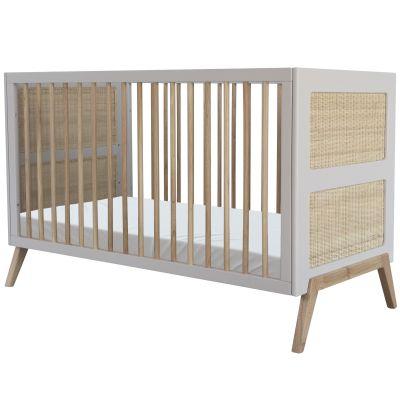 Pack duo lit bébé évolutif et côtés de lit Marelia gris lune (70 x 140 cm)  par Théo