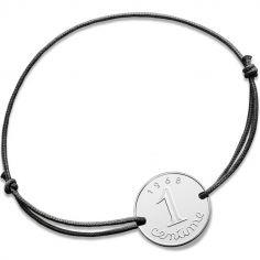 Bracelet cordon Centime épi 1968 (argent 925°)