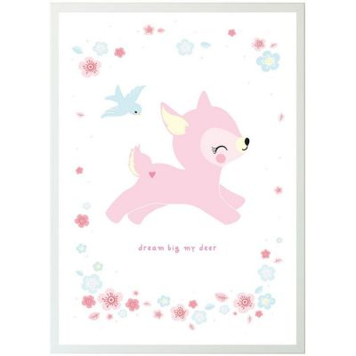 Affiche faon rose (50 x 70 cm)  par A Little Lovely Company